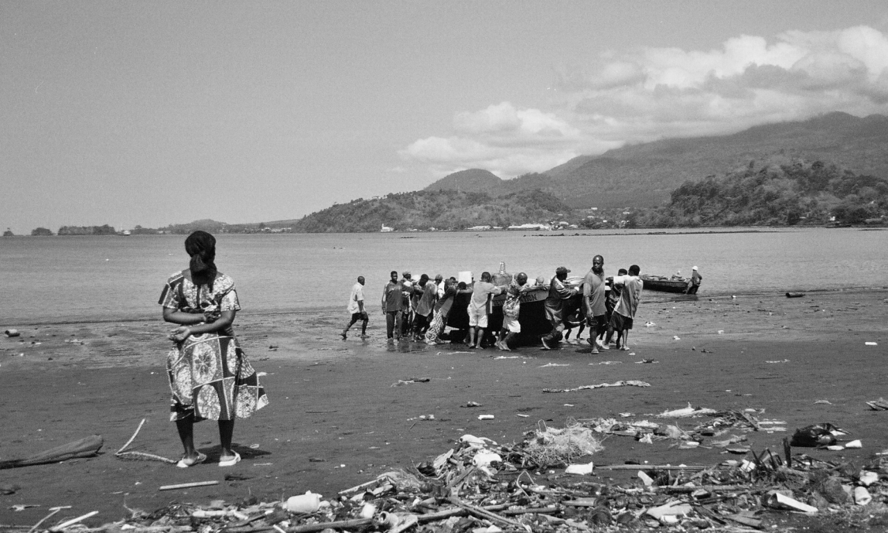 Fishermen near Limbe, Cameroon